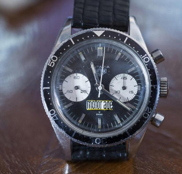 This Heuer was awarded to him as his highest speed in the Indianapolis 500 in 1966.