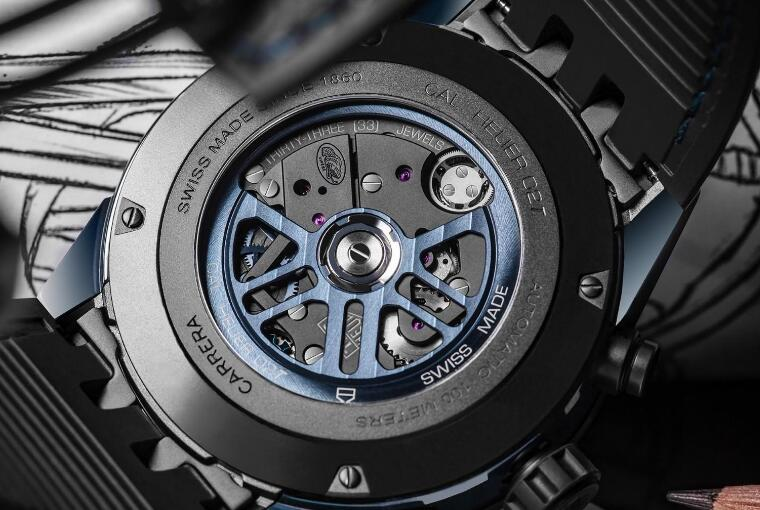 The movement could be viewed via the see-through caseback.