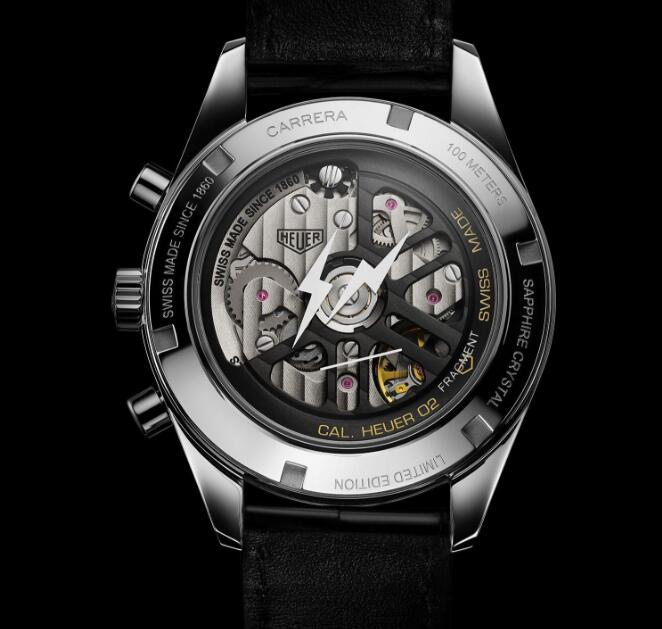 The movement could be viewed through the transparent sapphire crystal caseback.