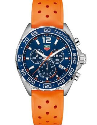 The orange rubber strap is very eye-catching.